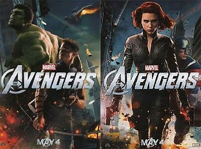 Avengers (Black Widow and Hulk) Original  Movie Dbl Sided Version A Poster 13x19