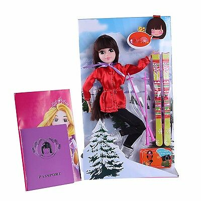Skiing Girl Toy Dolls & Accessaries Kids' Birthday Christmas Gift Playsets Dolls