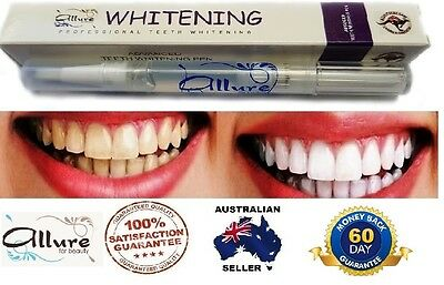 Allure Teeth Whitening Pen Tooth Gel High Strength Home Use Fast Results