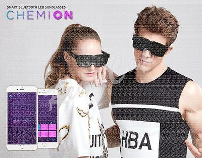 NEW CHEMION 2 Smart Bluetooth LED Sunglasses Club Party Sports Glasses GENUINE