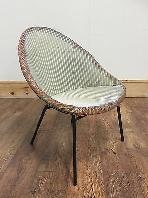 Lloyd Loom 'Lusty'  Chair Retro Vintage 1950s • £29.99