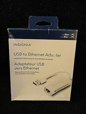 Insignia USB to Ethernet 10/100Mbps Adapter NS-PU98505-C (Open Box)