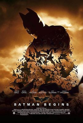 Batman Begins Version c Double Sided Original Movie Poster 27x40 inches