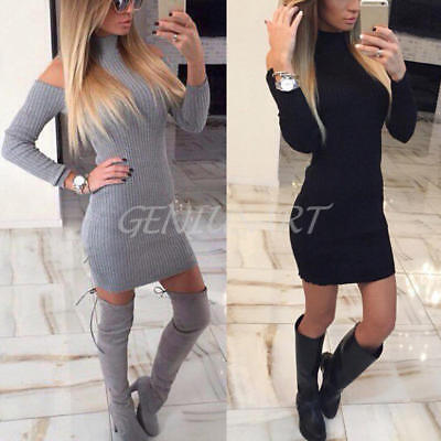 Women Ladies Bandage Bodycon Long Sleeve Evening Sexy Party Cocktail Mini Dress