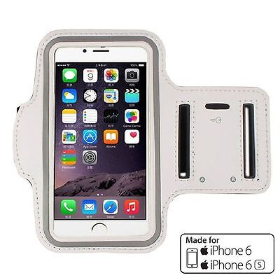 (White) Running Jogging Gym Workout Sport Armband Case Cover for iPhone 6/6s 4.7