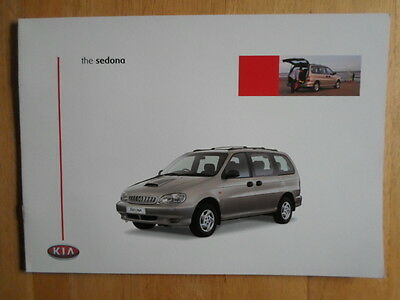 KIA SEDONA Range 1999 2000 UK Mkt Sales Brochure