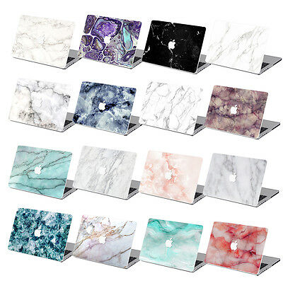 """Hard Rubberized Marble Painting Case For Macbook Pro Air 11 13""""15""""Retina 12+KeyB"""