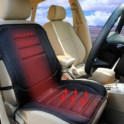 RIGHT 12V Heated Car Seat Cover Thermal Padded Plug In Back Lumber Massage Warm