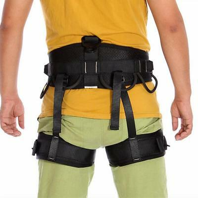 Black Abseiling Rock Tree climbing Safety Rappelling Harness Equipment Gear