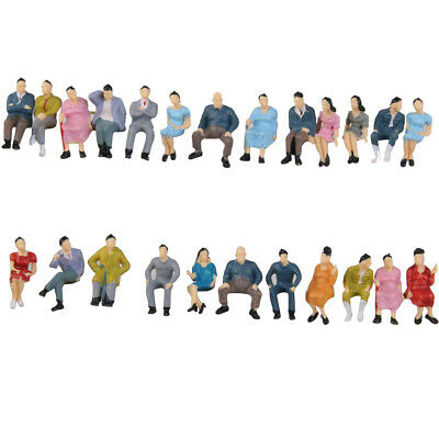 50pcs Seated People Sitting Figures Passengers Scenry Diorama Layout O scale