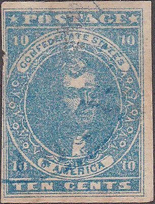 Confederate States #2 Ten Cent Postage Stamp