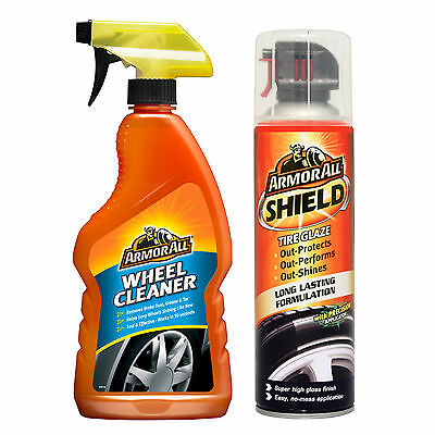 Armorall Alloy Wheel Cleaner + Shield Tire Glaze High Gloss Tyre Shine Polish