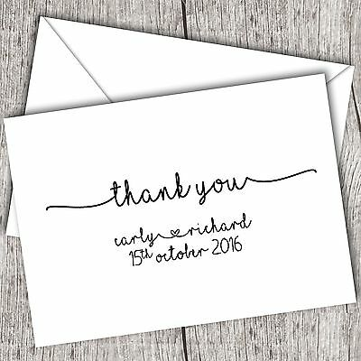 Personalised Thank You Cards ~ Wedding ~ Family ~ Gift ~ FOLDED