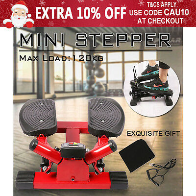 Mini Stepper Trainer Cardio Balance Fitness Calves Thigh Exercise Twister Red AU