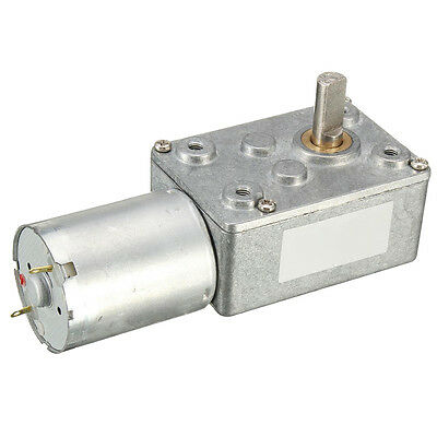 D6 12V 12rpm DC JGY370 Worm Turbo Gear Motor Right Angle Metal Gearbox