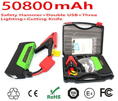 AU Portable 50800mAh Car Vehicle Jump Starter Pack Booster Charger Power Bank