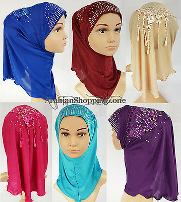 NEW Ice Silk Toddler Kids Children Hijab Islamic Scarf Shawls 2-8T