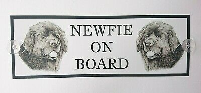 Newfie On Board Car Sign