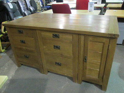 Rustic Look Wood Sideboard Credenza Type Cupboard For Home/Office Storage