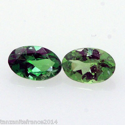 0,48 cts,TSAVORITE NATURAL 2 stones matching (stones precious/ fine)