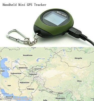 Outdoor Handheld Mini GPS Tracker Keychain Style with 16 POI Compass