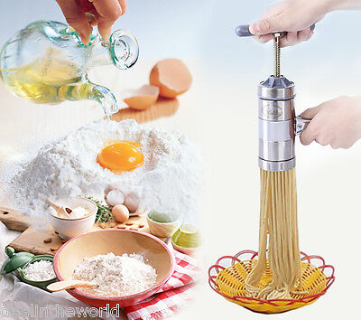 Limai Stainless Steel Manual Pasta Spaghetti Juice Noodle Maker with 5 Mold