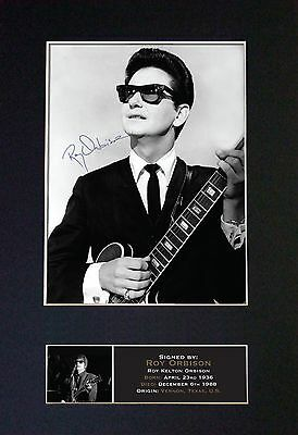 ROY ORBISON Signed Mounted Autograph Photo Prints A4 378