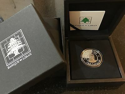 Lebanon Amin Maalouf Silver proof coin UNC 2012 Mintage Of Only 1000