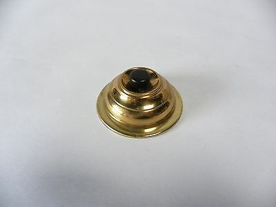 Vtg Antique Brass Round Dome Push Doorbell Door Bell Button (A10)