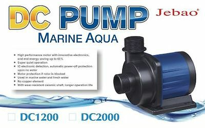 New Jebao DC 1200 L/H 12w 8 Speed DC Return Pump + AU Transformer + 1 Yr Wty