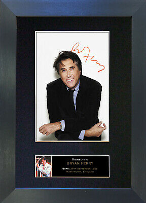 BRYAN FERRY Signed Mounted Autograph Photo Prints A4 153