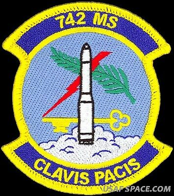 USAF 742nd MISSILE SQUADRON - Minuteman III - Minot AFB, ND - ORIGINAL PATCH