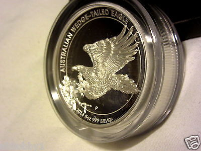 Australian Wedge-Tailed Eagle 2014 5Oz Silver Proof High Relief Coin