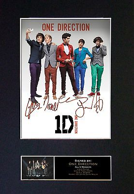 ONE DIRECTION Signed Mounted Autograph Photo Prints A4 124
