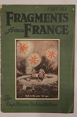 WW1 British Bruce Bairnsfather Fragments From France Part Six 6 Reference Book