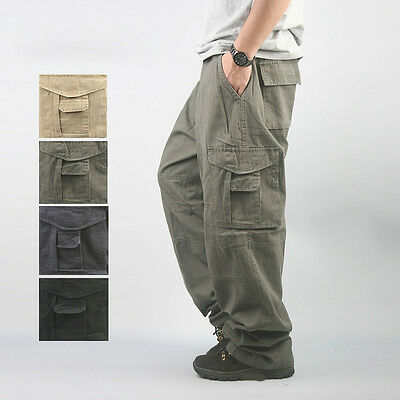 Men's Tactical Military Trousers Work Duty Hunting Hiking Plus Size Cargo Pants