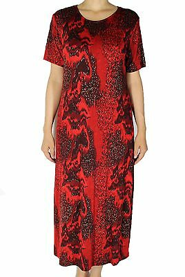 NWT Women's Short Sleeve Maxi Dresses Casual Travel Summer Outfit Made In USA