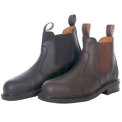 Loveson Black Leather Upper Protective Steel Toe Cap Jodhpur Yard Boots Sale