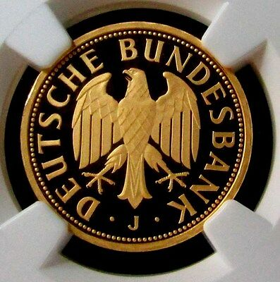 2001 J Gold German 1 Mark Ngc Proof 69 Ultra Cameo Retirement Of The Mark