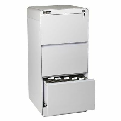 Excalibre 3 Drawer Filing Cabinet White