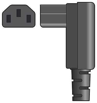 New Heavy Duty Right Angle C13 Iec Female Rewireable Socket 10A Mains Power