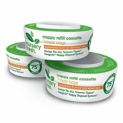 Tommee Tippee Sangenic Compatible Nappy Disposal Refill Cassette 3pk #`011884CNP