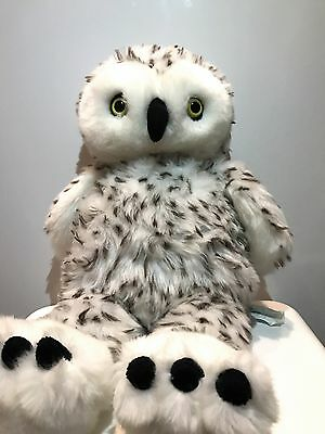 """Build A Bear Spotted Snow Owl with Head that turns 15"""""""