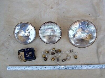 Lot of Vintage 6 Volt Automotive Lamp Bulbs and Sealed Beams