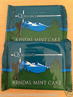 Quiggins Kendal Mint Cake 2 Bars, Classic British Retro Sweets, Uk Import