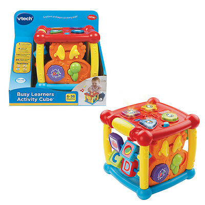 VTech Busy Time Learning Activity Cube explore imaginative play sounds shape