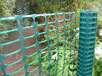 Green Plastic Barrier Mesh 1x50m Safety Fencing Light Temporary Control Fence