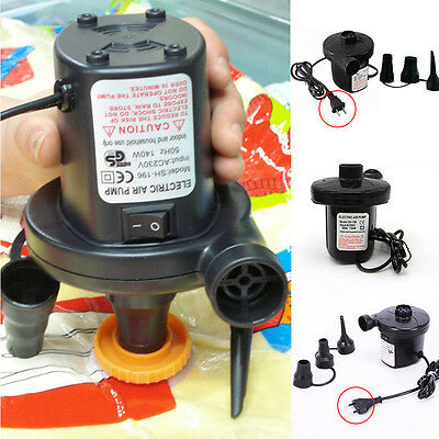 1*Car Auto Electric Air Pump Inflator Deflate for Air Bed Mattress Pool Boat Toy