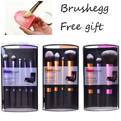 3 Sets/12pcs Real Techniques MakeUp Brushes Starter Kit Core Collection Cosmetic