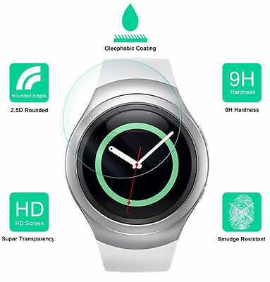 2X Tempered Glass Screen Protector for Samsung Galaxy Gear S2 Classic Smartwatch
